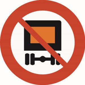 Forbudet gjelder kjøretøy som medbringer farlig gods